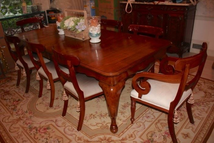 Classic Elegant Dining Table and 8 Chairs