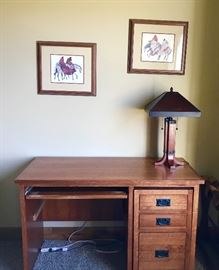 The Desk with the under-desk movable drawers was paid $1135. See next 2 photos. Acquire this treasure at liquidation price!