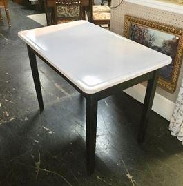 Vintage ENAMEL TOP Table