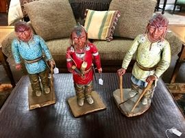 Hand Carved Indians...very neat pieces!!!