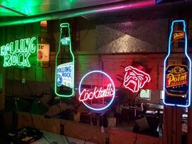 Many beer/cocktail neon signs