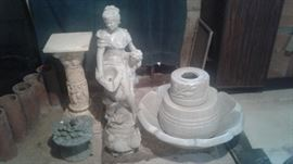 The lady and the base for the fountain as well as some other garden statuary
