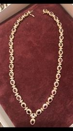$2,100 final/no negotiation14 kt yellow gold, 32 ruby gemstones (7 X 8 mm) Presidium gemstone Duo tested & 400+ diamonds necklace . Call 972-814-2864 to buy. We have other 14 kt gold items. Better come quickly..