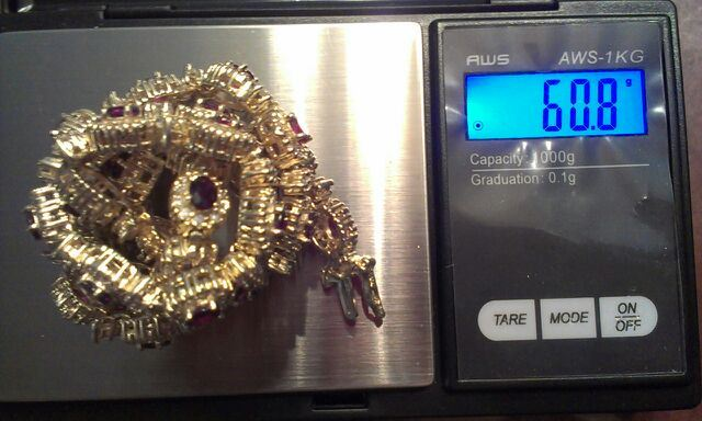 Total weight 60.8 grams