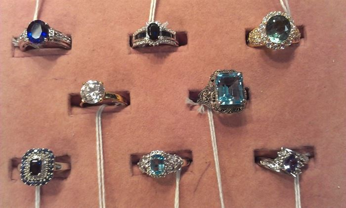 more gemstone sterling rings...