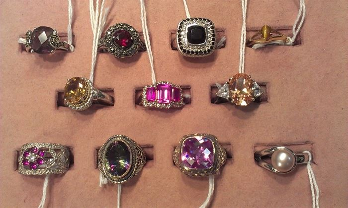 more gemstone sterling rings