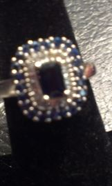 Blue sapphires gemstones PRESDIIUM tested, sterling