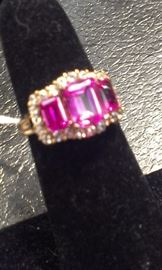 Pink Sapphire gemstones & cz's PRESIDIUM tested, sterling