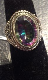 Mystic Topaz gemstone PRESIDIUM tested, sterling
