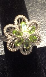 GEMSTONES: Peridot & Diamonds sterling, Presidium tested+MORE TO COME after Features