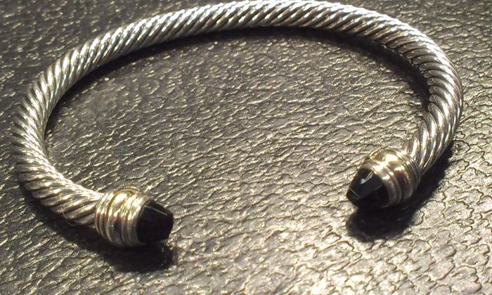 Authentic DAVID YURMAN sterling w onyx tips, signed + MORE TO COME after Features