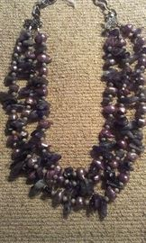 Amethyst & Pearls multi strand, PRESIDIUM tested