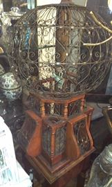 Huge wire & wood bird cage + 4 MORE TO COME after Features