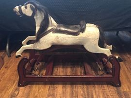 Late 1800's Antique Rocking Horse - Authentic