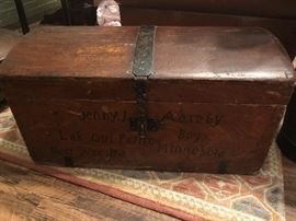 Antique Norwegian Trunk From the mid 1800s.