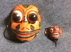 Painted Masks from Bali