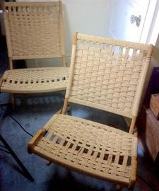 Pair of Hans Wegner Folding Chairs