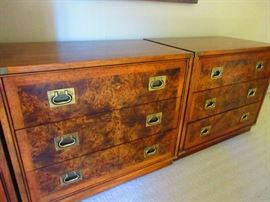 Pair of mid-century Hickory Chest of drawers