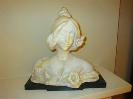 antique marble bust of a beauty