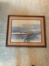 "LARGE WATERCOLOR CALLED ""CHANGING SEASONS"" BY ACKERMAN"