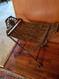 Bronze (or brass) folding seat