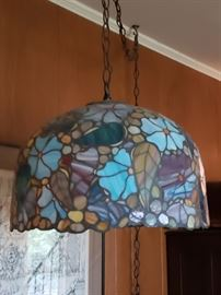 Handcrafted stained glass lamp (it is so pretty in person)