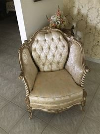 French Provincial chair -- 1 of 2 identical armchairs