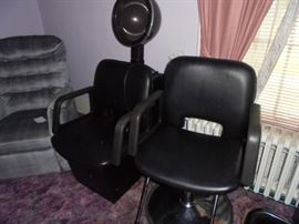 Hair salon chair & hair drying chair