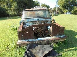1967 Ford pick up.  Parts? All original. Hood in bed of truck. Fenders, grill and all body parts accounted for.
