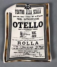 Lot 6 PIERO FORNASETTI Italian Otello Playbill Tray D