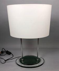Lot 11 Modernist Italian Style Glass Table Lamp. Mottled