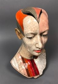 Lot 9 ZBIGNIEW CHOJNACKI Artisan Ceramic Bust Sculpture