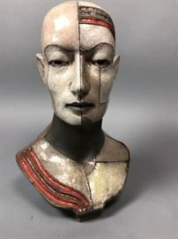 Lot 10 ZBIGNIEW CHOJNACKI Artisan Ceramic Bust Sculpture