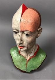Lot 12 ZBIGNIEW CHOJNACKI Artisan Ceramic Bust Sculpture