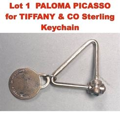 Lot 1 PALOMA PICASSO for TIFFANY  CO Sterling Keychain