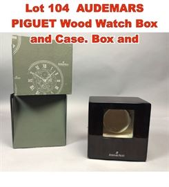 Lot 104 AUDEMARS PIGUET Wood Watch Box and Case. Box and