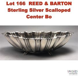 Lot 166 REED  BARTON Sterling Silver Scalloped Center Bo
