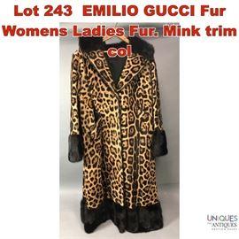 Lot 243 EMILIO GUCCI Fur Womens Ladies Fur. Mink trim col