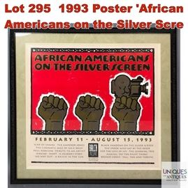 Lot 295 1993 Poster African Americans on the Silver Scre