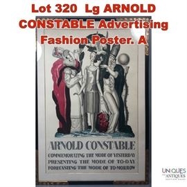 Lot 320 Lg ARNOLD CONSTABLE Advertising Fashion Poster. A