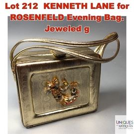 Lot 212 KENNETH LANE for ROSENFELD Evening Bag. Jeweled g