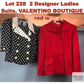 Lot 228 2 Designer Ladies Suits. VALENTINO BOUTIQUE red w