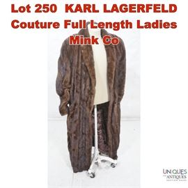 Lot 250 KARL LAGERFELD Couture Full Length Ladies Mink Co