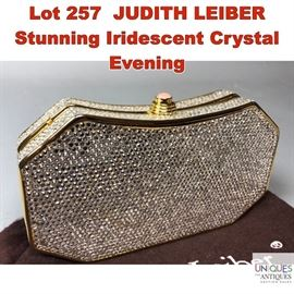 Lot 257 JUDITH LEIBER Stunning Iridescent Crystal Evening