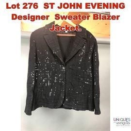 Lot 276 ST JOHN EVENING Designer Sweater Blazer Jacket.