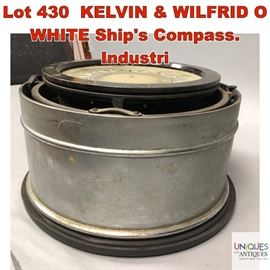 Lot 430 KELVIN  WILFRID O WHITE Ships Compass. Industri