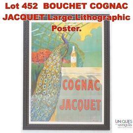 Lot 452 BOUCHET COGNAC JACQUET Large Lithographic Poster.