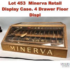 Lot 453 Minerva Retail Display Case. 4 Drawer Floor Displ