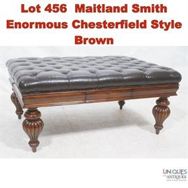 Lot 456 Maitland Smith Enormous Chesterfield Style Brown