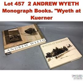 Lot 457 2 ANDREW WYETH Monograph Books
